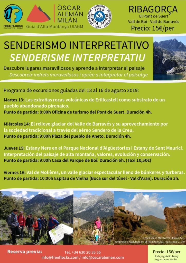 Programa de sortides guiades de senderisme per la Ribagorça del 13 al 16 d'agost